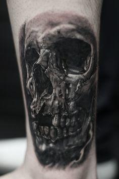 Skull bng tattoo.