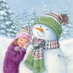 Leading Illustration & Publishing Agency based in London, New York & Marbella. Christmas Scenes, Christmas Mood, Vintage Christmas Cards, Christmas Pictures, Christmas Snowman, All Things Christmas, Christmas Crafts, Christmas Decorations, Christmas Drawing