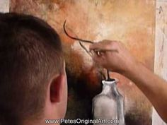 Learn How to Paint Abstract Painting with Acrylics by Peter Dranitsin