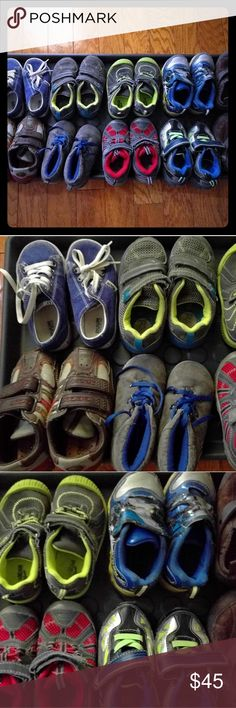 Lot of 9 Toddler Boy shoes size 8 Good condition, variety of styles & brand Make me an offer. Shoes