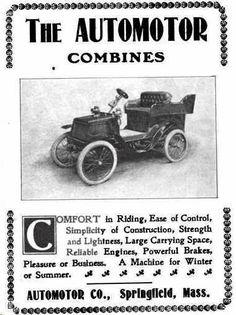 1901 Automotor Automobile Advertisement
