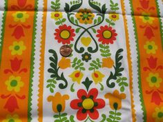 Vintage Pennsylvania Dutch Orange Red and Yellow by tessimal, $18.00