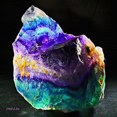 Rainbow Fluorite - Those remind us of our Fluorescent colors here at Crescent Bronze!
