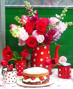 Red and Polka Dots....love it!!!