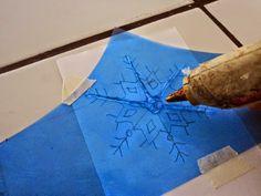 MANUALIDADES: COPOS DE NIEVE CON SILICON CALIENTE noviembre 2014