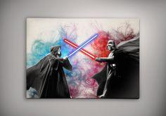 Obi Wan Kenobi vs Darth Vader Star Wars Watercolor by EpicShoppe