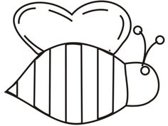 Bumble Bee Coloring Pages Clipart