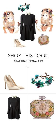 The romantic side by nektaria-frantzh on Polyvore featuring Valentino, Gianvito Rossi and Marchesa