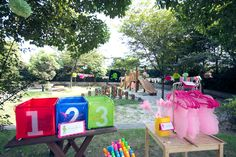 The setting for the Fairy and Pirate party