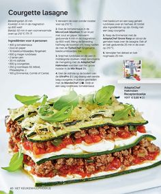 Tupperware Belgium—page 40 Pureed Food Recipes, Pasta Recipes, New Recipes, Low Carb Recipes, Cooking Recipes, Healthy Recipes, Tupperware Recipes, Go For It, Food Inspiration