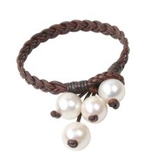 Boho Tassel Bracelet, Freshwater - Hottest Designer Pearl and Leather Jewelry | VINCENT PEACH  - 1