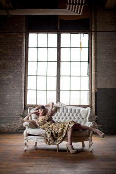 Fehn - Claire Dam Photography #vintage #dress #industrial #warehouse #romantic #fashion #style