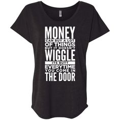 Dog Life Quote Slouchy T-Shirt For Women
