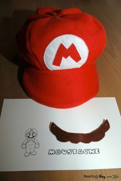 Can use the same Mario hat pattern I used for Charlie's hat to make Morgan a Strawberry Shortcake hat!