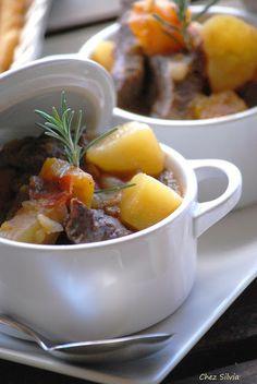 Estofado de ternera con calabaza y patatas
