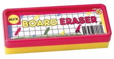 They come in a range of colours that are appealing to toddlers. The Alex Toys Black Board Eraser is available in red, yellow or blue. With The Alex Toys Black Board Eraser your kid can redo their art masterpiece over and over again. It is suitable for children aged three years and above. There is no better way to keep chalkboards clean other than with these colourful board erasers.