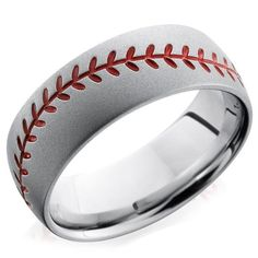 Hit a home run with him, Give him the Lashbrook baseball inspired wedding band from Ben Garelick Jewelers http://ss1.us/a/1f1kcLT7