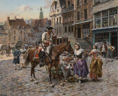 """Painting of the Day (AVAILABLE): Henry Victor Lesur's """"A Soldier's Fancy"""" - http://rehs.com/blog/2014/12/painting-of-the-day-available-henry-victor-lesurs-a-soldiers-fancy/"""