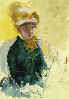 MARY CASSATT  Self-Portrait (1880)