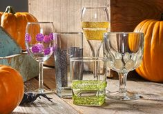 DIY Decoupage - Colorful Glitter Mod Podge Halloween Glasses