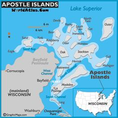 The 21 Apostle Islands are located off the northern tip of Wisconsin on the shore of Lake Superior....