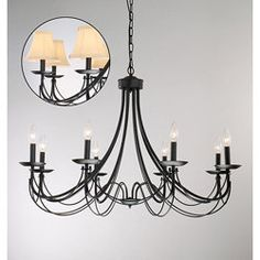 Shop for Iron 8-light Black Chandelier. Get free shipping at Overstock.com - Your Online Home Decor Outlet Store! Get 5% in rewards with Club O!