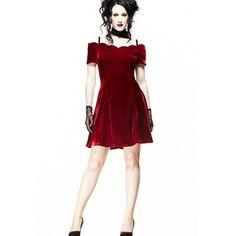 Jessica - Vestido rojo granate [GO05PP124057] - €59.98 : Gothikas, Ropa gotica barata