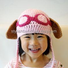 Skye Hat, PAW Patrol Hat, Crochet Baby Hat, Cockapoo Dog Hat, photo prop…