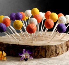 wood used as a base for cake pop stand- to match your theme- we could stack/tier them like a regular cake. This is so much cuter than using acrylic or styrofoam!