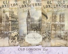 Old London bookmarks