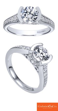A 14k White Gold Diamond Straight Engagement Ring. Discover your perfect engagement ring