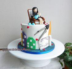 (@gizemintatlidunyasi): Anne Oğul Pastası ✏️📐 #anneoğul #mimarpastası #architectcake Anne, Cupcake, Cupcake Cakes, Cup Cakes, Teacup Cake