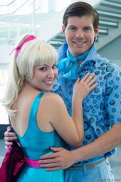 Barbie and Ken Cosplay at Disney23 2013
