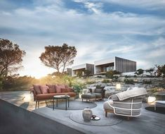 Photo 1 of 11 in Sleek Minimalist Design and Enduring Quality Transcend Gloster's Latest Collections - Dwell Sofa Design, Furniture Design, Interior Design, Outdoor Living Rooms, Outdoor Spaces, Outdoor Lounge, Outdoor Decor, Luxury Furniture Brands, White Sofas