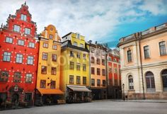 Stortorget place in Gamla st mural