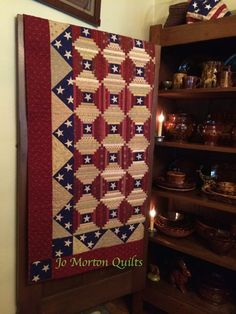 """""""Courthouse Steps"""" ~ quilt pattern from the book 'Remembrances' by Jo Morton ~ I like the double directions of stripes!"""