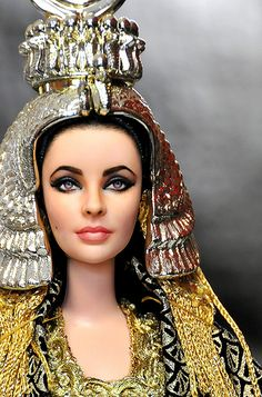 What an incredible likeness!  Such a beautiful woman and such an incredible doll re-paint! Cleopatra, Liz Taylor