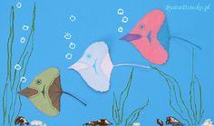 DIY Kolorowe ryby z suszonych jesiennych liści w ramach prac plastycznych dla dzieci