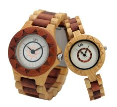 Wooden Watch!! This watch is made of Hinoki and Santos.