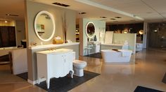 More than just a place to pick out the perfect fixture, Best Plumbing has experts on hand to answer all of your plumbing questions. Kitchen And Bath Showroom, Plumbing, Powder Rooms, This Or That Questions, Mirror, Interior Design, Luxury, Furniture, Home Decor
