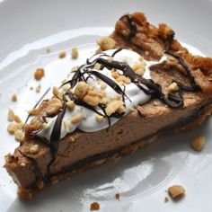 Peanut Butter Coconut Icebox Pie  vegan, plantbased, earth balance, made just right