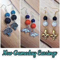GameDay Earrings  Carolina Panthers, Denver Broncos, New Orleans Saints
