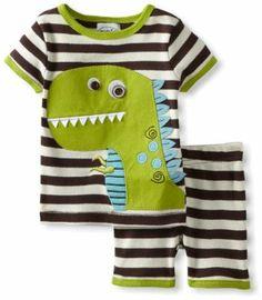 Amazon.com: Mud Pie Baby-Boys Newborn Dinosaur Short Pajama Set: Clothing
