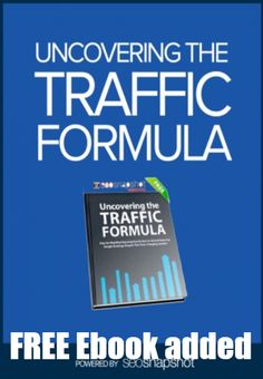 New FREE Product: Uncovering the Traffic Formula [Ebook] - We just released a new case study report that walks you through the tricks we used to generate 61,754 new visitors to our site in just 1 month from Google.