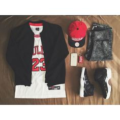 WEBSTA @ roow420 - To commemorate today's victory in style I'm wearing ☑️ Bershka Collection Bomber jacket☑️ Chicago Bulls Jersey ☑️ Mitchell