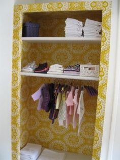 love love love the wallpaper in the closet!! #matildajaneclothing #MJCdreamcloset
