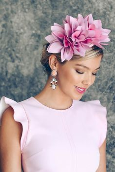 Courtney Fascinator by Morgan and Taylor. A shade of pink perfect for Oaks Day!
