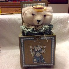 A personal favorite from my Etsy shop https://www.etsy.com/listing/275274094/enesco-juggle-the-bear-limited-editon