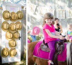 Pony Birthday Party Styled by @On Solid Ground Vintage Rentals via Somewhere Splendid.