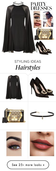 """""""#PolyPresents: Party Dresses"""" by orrinn on Polyvore featuring Karl Lagerfeld, Carbon & Hyde, Miu Miu, Gucci, contestentry and polyPresents"""